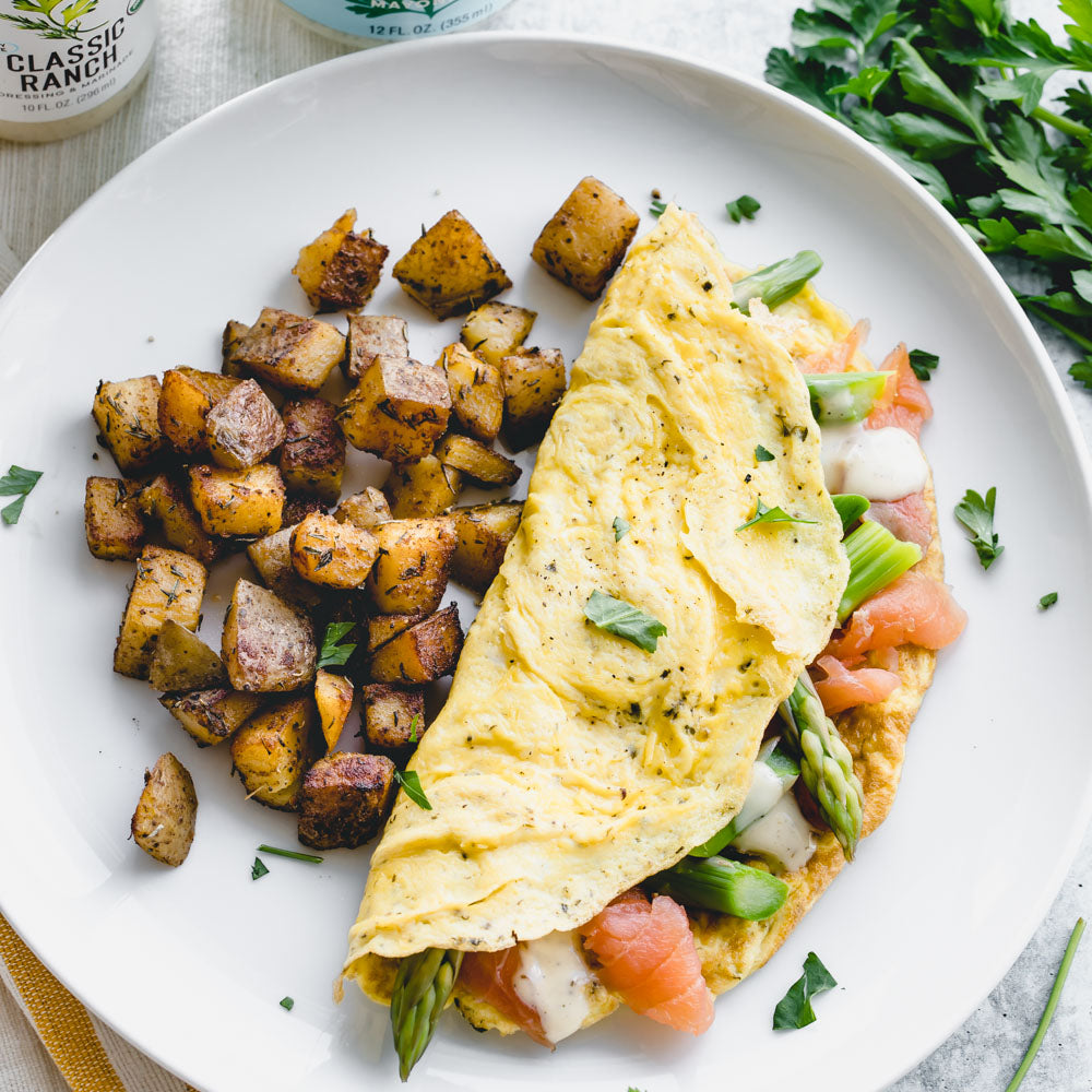 Smoked Salmon and Asparagus Omelets