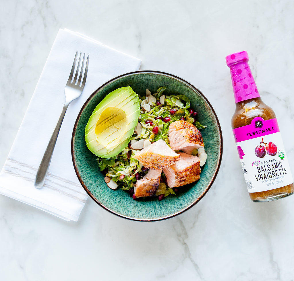No Recipe Balsamic Salmon Bowl