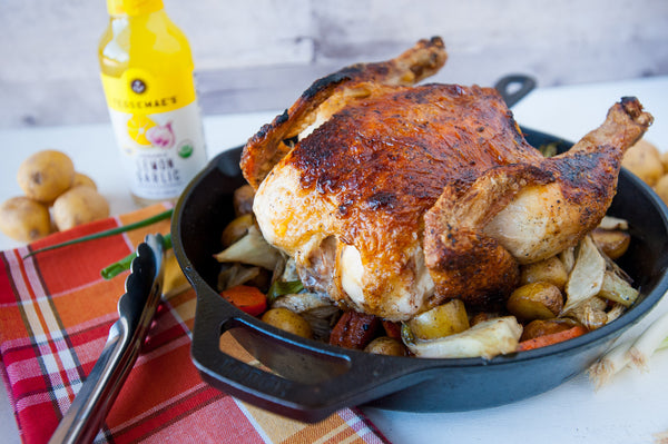 skillet roasted chicken & vegetables