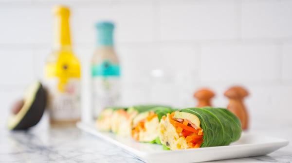 egg salmon avocado collard roll-ups