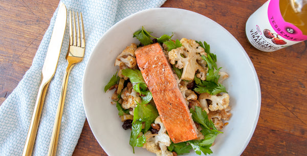 Balsamic Salmon & Cauliflower Salad
