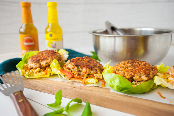 soy ginger salmon burgers