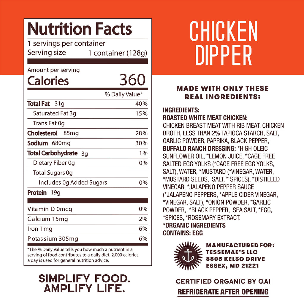 Buffalo Ranch Chicken Dipper - Tessemae's All Natural