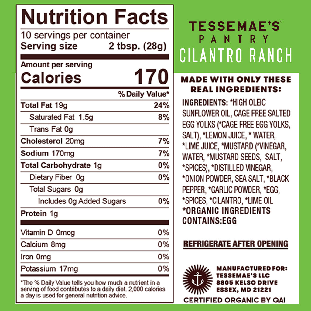 Pantry Cilantro Lime Ranch - Tessemae's All Natural