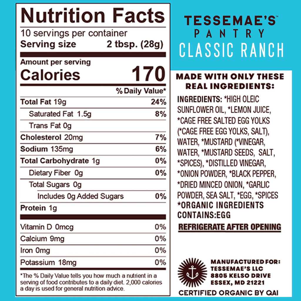 Whole30 Ranch Lovers Pack - Tessemae's All Natural