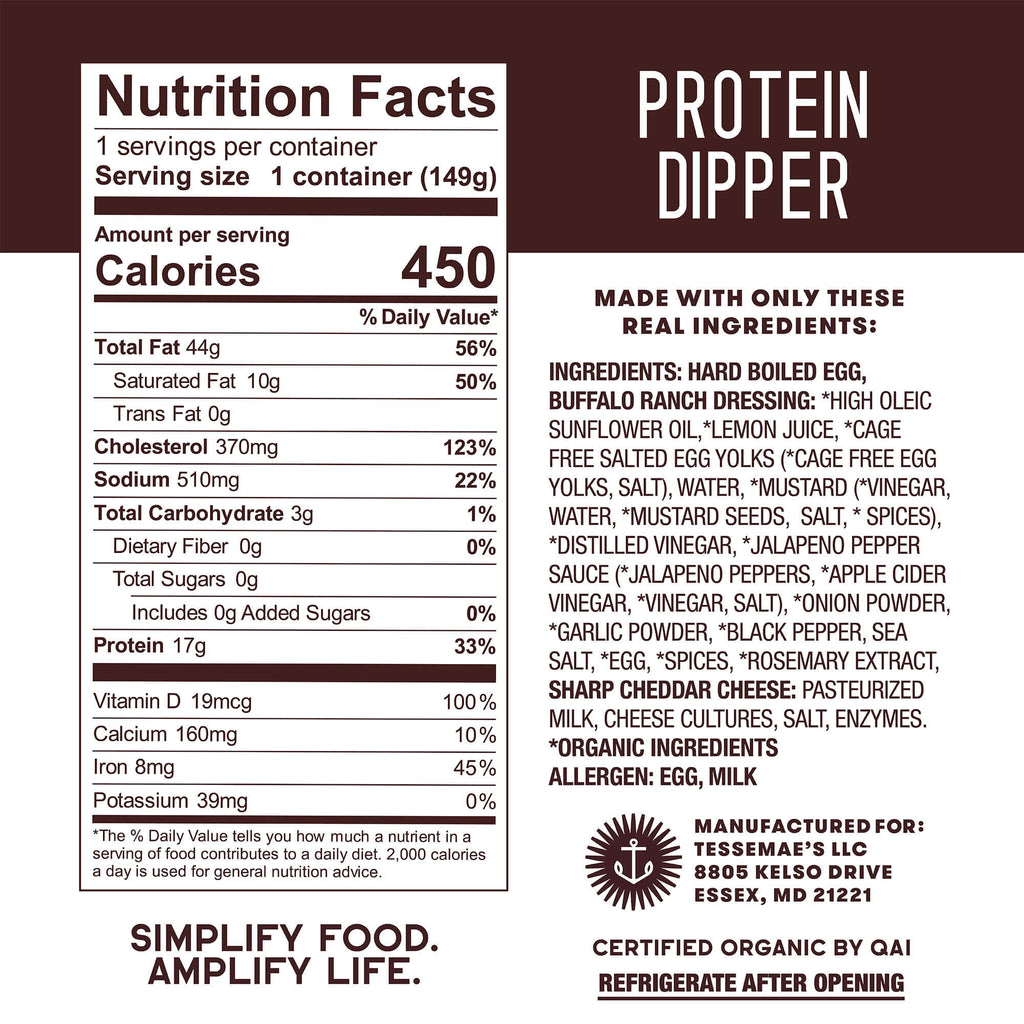 Buffalo Ranch Protein Dipper - Tessemae's All Natural