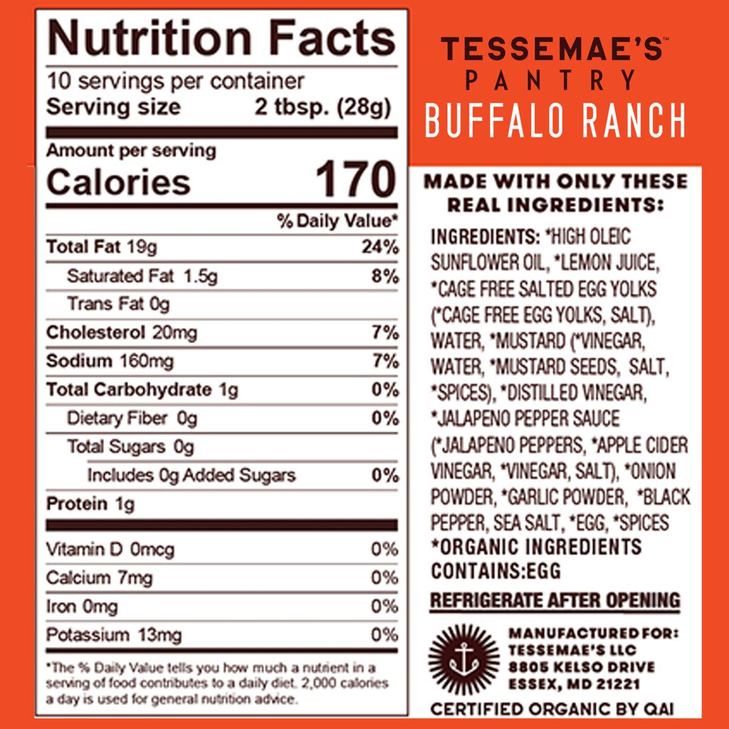 Buffalo Ranch & Mild Buffalo Sauce 2 Pack - Tessemae's All Natural