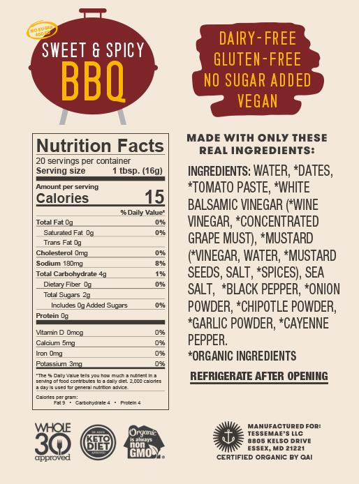 Toss the Sauce BBQ Pack - Tessemae's All Natural