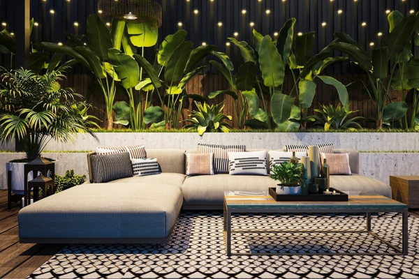 Unify your space with a cozy rug   Porch & Patio Decor Ideas For Spring and Summer 2021