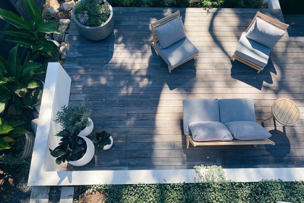 Add comfort with cushions   Porch & Patio Decor Ideas For Spring and Summer 2021