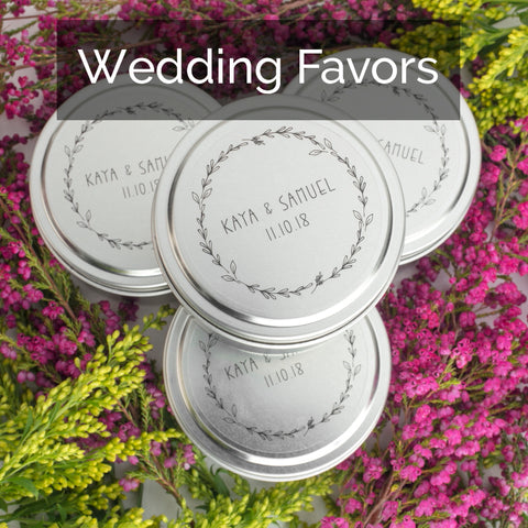 Personalized candle wedding favors that give back - ethically made in the U.S.
