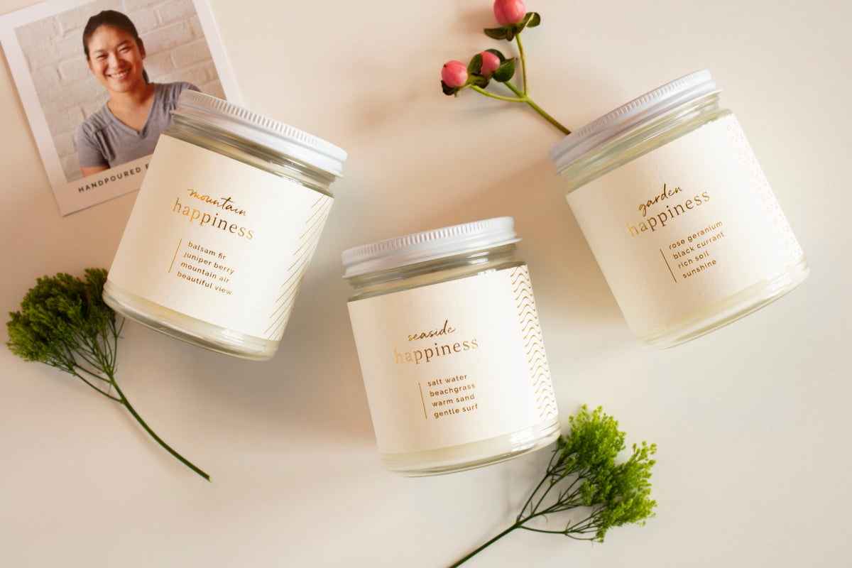 Ethically made candles and client gifts that give back to women artisans in the U.S. Fair trade and handmade.