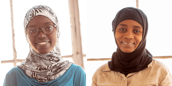 Women artisans Lydia and Nyota, resettled refugees creating a brighter future through fair trade candles