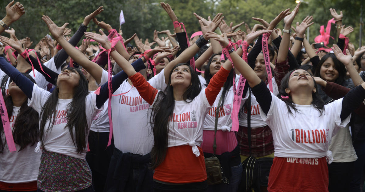 One Billion Rising in solidarity on Valentine's Day to raise awareness about the exploitation of women