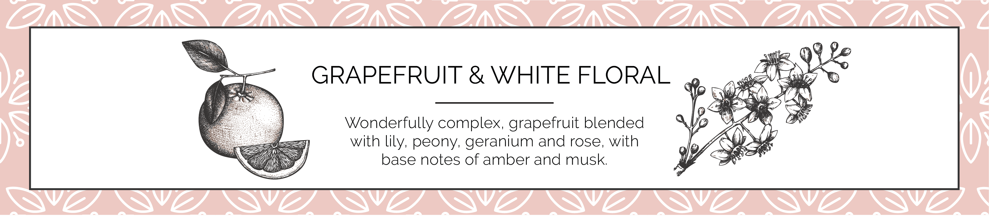 Grapefruit and White Floral Candles Fragrance