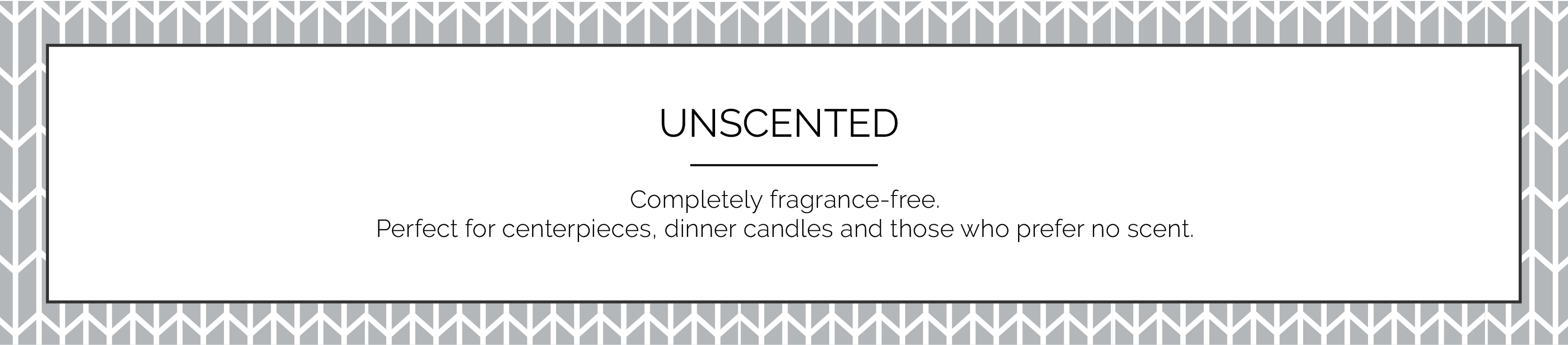 Unscented Candles with No Fragrance Without Fragrance