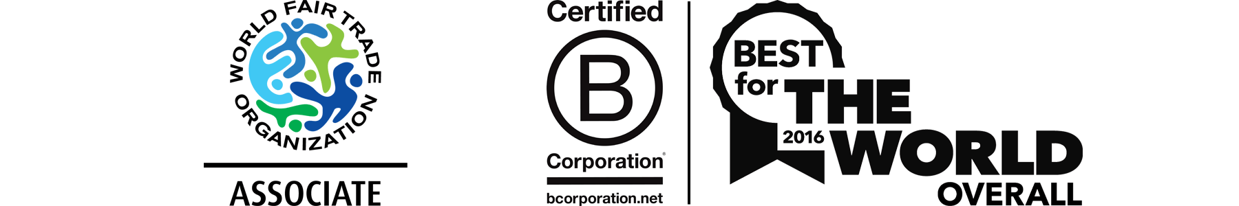WFTO World Fair Trade Organization and B Corp certifications for Prosperity Candle making handcrated soy blend candles