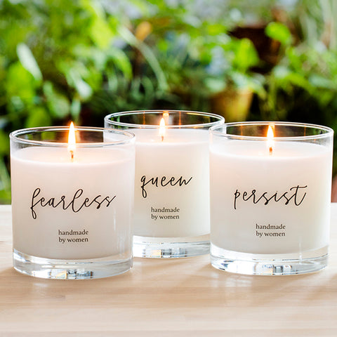 She Inspires Candle - candle gifts that give back to women artisans in the U.S. Ethically made candles and gifts.