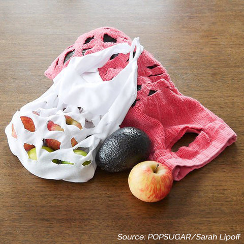DIY T-shirt produce bag - 5 Creative Upcycling DIY Ideas to Style your Home Sustainably