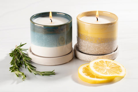 Handpoured coconut soy candles with unique candle scents