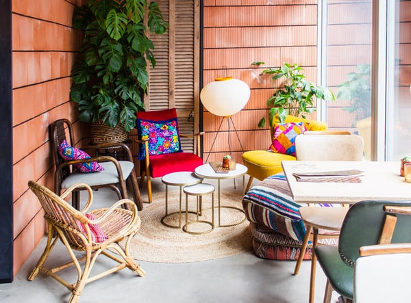 Accent with bright pops of color   Porch & Patio Decor Ideas For Spring and Summer 2021