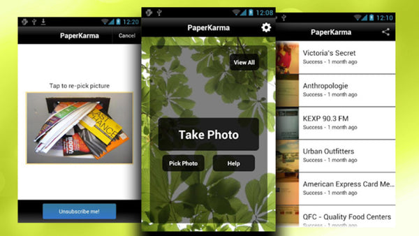 PaperKarma - 5 Sustainable Living Apps to Help You Go Green and Give Back
