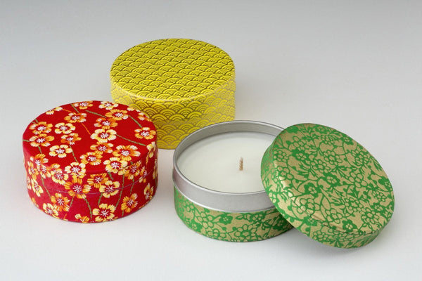 Spring Washi Tea Tin Candles