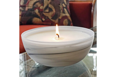 Alabaster Swirl Bowl - ethical candles that give back and gifts for a cause. Handmade by women artisans in the U.S.