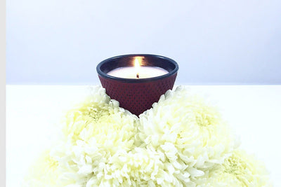 Amami Votive - Prosperity Candle handmade by women artisans fair trade soy blend candles
