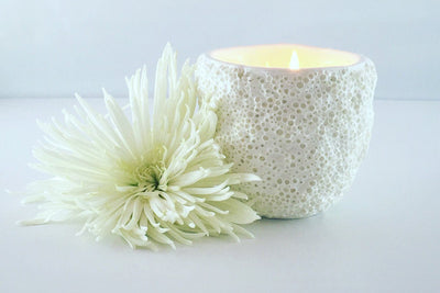 Antibes Coral Candle - Prosperity Candle handmade by women artisans fair trade soy blend candles