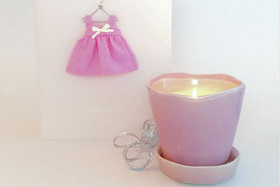 Tika Pot Candle - Prosperity Candle handmade by women artisans fair trade soy blend candles