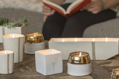 Linnea 4-Wick Centerpiece - handcrafted soy blend candles ethically made by women artisans in the U.S.