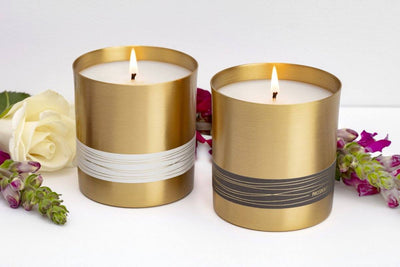 Serenity Candle - Fair trade candles that give back, made from brass in partnership with Tara Projects in India.