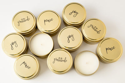 Celebration Candles - Prosperity Candle handmade by women artisans fair trade soy blend candles