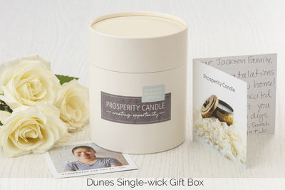 Dunes single-wick gift box - Prosperity Candle