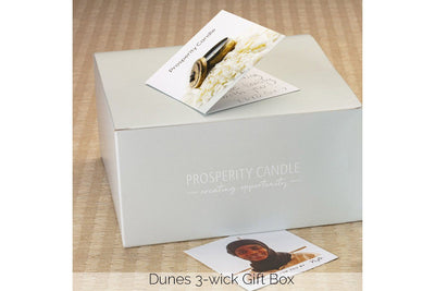 Dunes three-wick gift box - Prosperity Candle