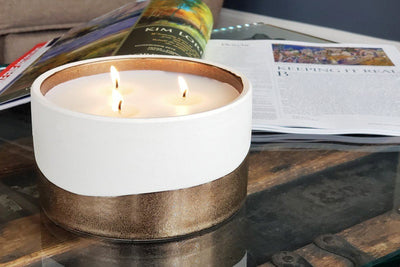 Dunes three-wick candles make great gifts that give back for birthdays and special occasions. Ethical candles poured by refugees resettled in the United States.