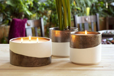 Dunes three-wick and single wick candles make great gifts that give back for birthdays and special occasions. Soy blend fair trade candles poured by refugees resettled in the United States.