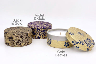 Gold Washi Tin Candles