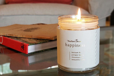 Mountain Happiness Candle - Ethical candles that give back and gifts that support refugees. Fair trade.