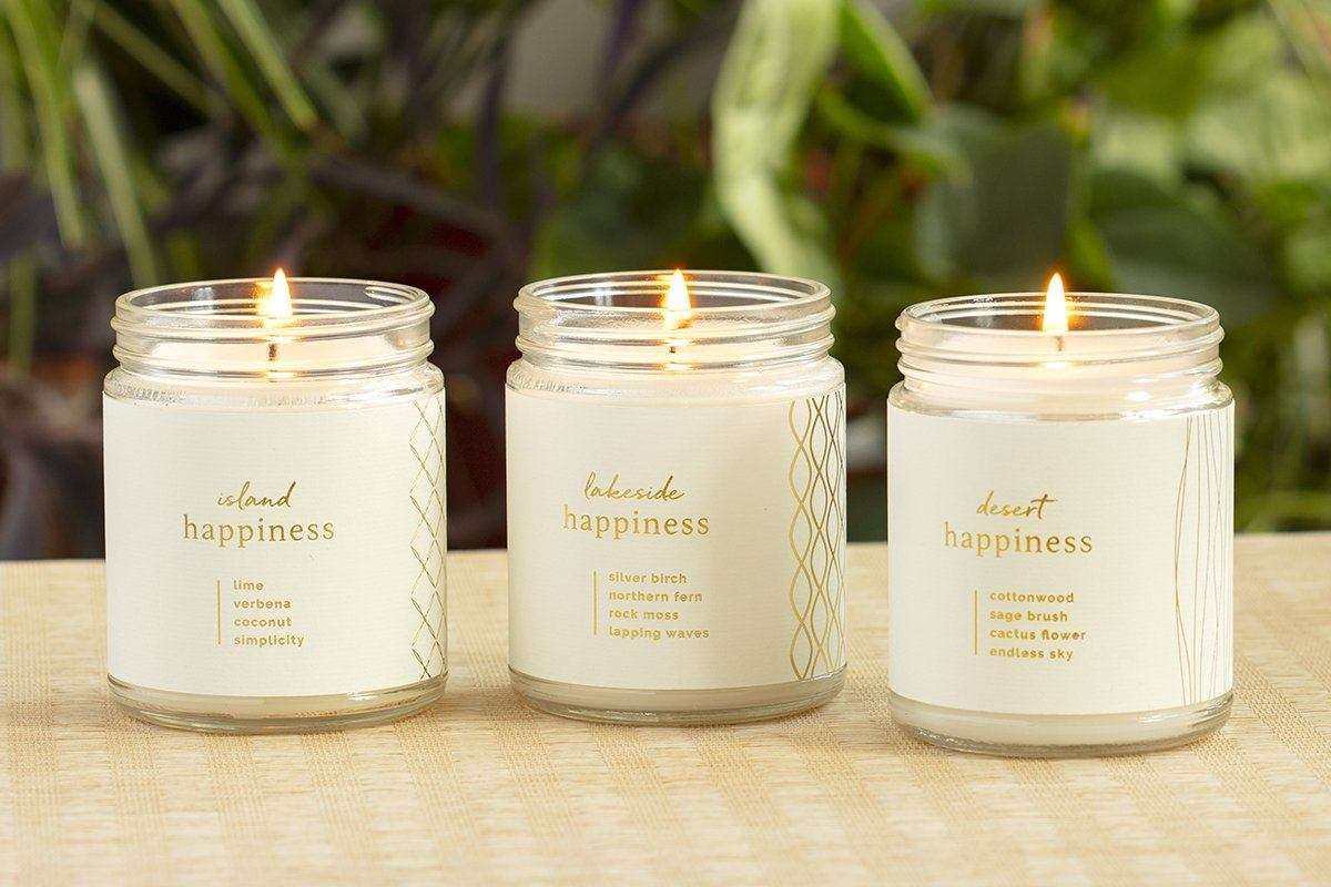 Happiness Candle Collection Natural Soy Candles Prosperity Candle