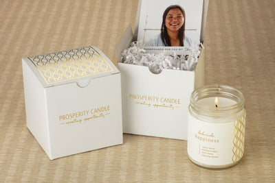 Happiness Candle Gift Box - Ethical candles and gifts that give back to women artisans in the U.S.