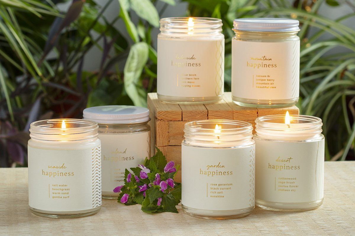 Happiness Candle - Ethical candles and gifts that give back to women artisans in the U.S.