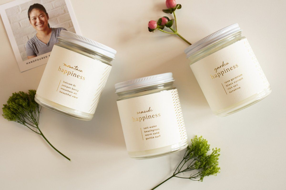 Happiness Trio Gift Set - Ethical candles that give back and gifts that support refugees. Fair trade.