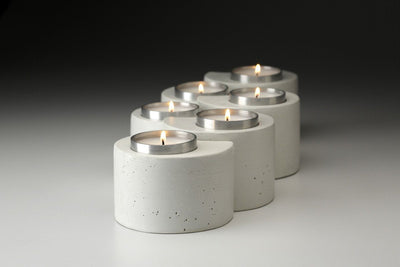 Nesting Haiti Rubble Candleholders - Prosperity Candle handmade by women artisans fair trade soy blend candles