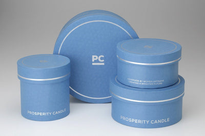 Cannes Trio - Prosperity Candle handmade by women artisans fair trade soy blend candles
