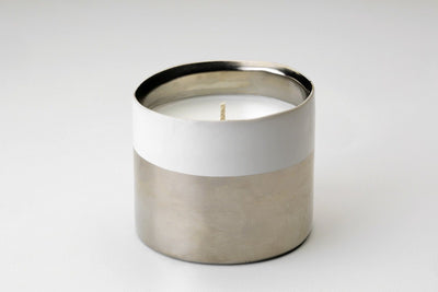 Osby Silver Votive - Prosperity Candle handmade by women artisans fair trade soy blend candles