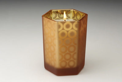 Monaco Hexagon - Prosperity Candle handmade by women artisans fair trade soy blend candles