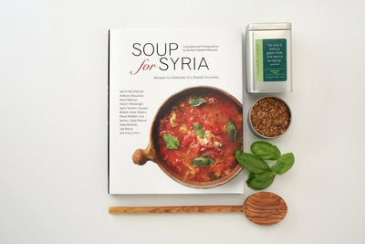 Business gift support syrian refugees with soup for syria cookbook gift box
