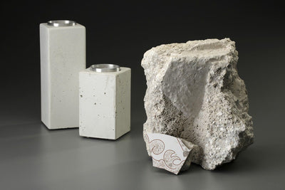 Haiti Rubble Centerpiece - Prosperity Candle handmade by women artisans fair trade soy blend candles